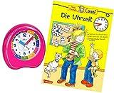 Kinderwecker Ohne Ticken Mädchen Rosa mit Lernbuch Conni Buch Uhrzeit Lernen - 1953-17 BU