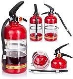 VENKON - Design Getränkespender im Feuerlöscher Design - für kalte alkoholische oder auch alkoholfreie Getränke - 1.5l - rot/schwarz