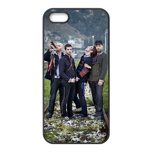 Coldplay coque iPhone 4 4S Housse téléphone Noir de couverture de cas coque EBDXJKNBO17172
