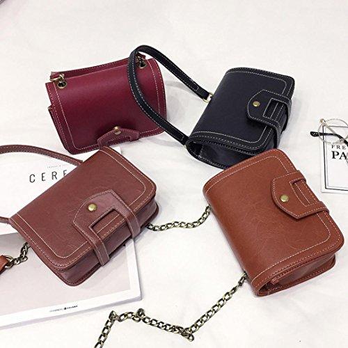 646e5eda50f6e ... BZLine® Frauen Leder Shopper Schultertasche Messenger Bag Beutel Schwarz