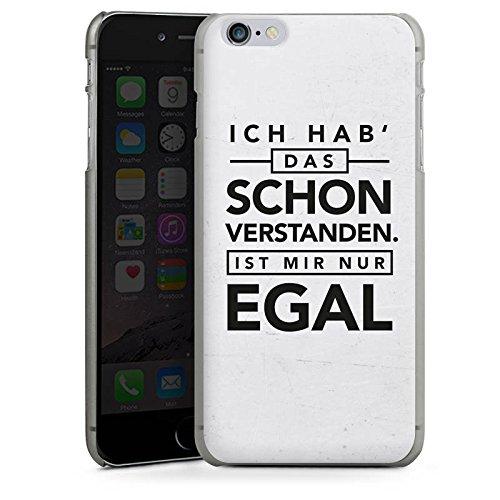 Apple iPhone 7 Hülle Case Handyhülle Sprüche Statement Spruch Hard Case anthrazit-klar