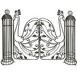 Unbekannt Gartenpforte Gartentor aus Metall mit Flügeln in Pfau-Design