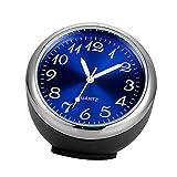 F Fityle Allgemeiner Auto KFZ Einbau Uhr Armaturenbrett Analog Uhr Blau + Silber, Auto Dekoration