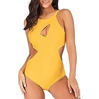 FeelinGirl Donna Sexy Costumi da Bagno Intero Modellante Push Up Monokini Swimsuit Coordinati Curvy 1 Pezzo