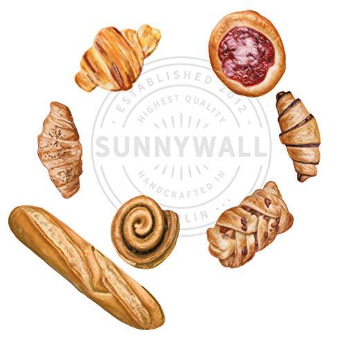 Sunnywall Wandtattoo Aufkleber Wandsticker Küche Genuss - 14 Motive Backwaren süß