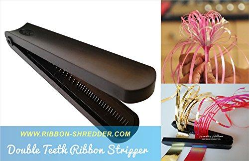 Preisvergleich Produktbild Aktenvernichter, Schleife Aktenvernichter mit Metall Zähne Klinge (Double), Band-Splitter für massiv, metallisch und irisierend Laminierung Bänder, Ribbon Curling Tool–rspac (TM)