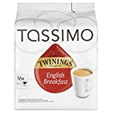 Tassimo Twinings English Breakfast Tea 16 servings (Pack of 5, 80 servings/pods/discs in total)
