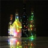 from Sixcup Sixcup Wine Bottle Lights, LED Cork Lights for Bottle,Copper Wire Bottle Lights for DIY, Party, Decor, Christmas, Halloween,Wedding,10 PCS LED (RGB)