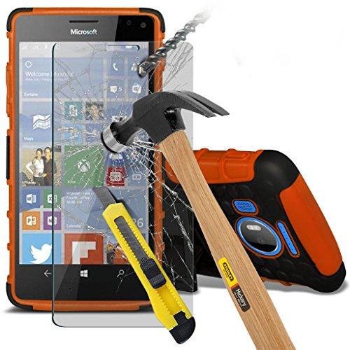 Étui pour Microsoft Lumia 950 Titulaire de téléphone Case voiture universel Mont Cradle Dashboard & pare-brise pour iPhone yi -Tronixs Shock proof + Earphone (White)