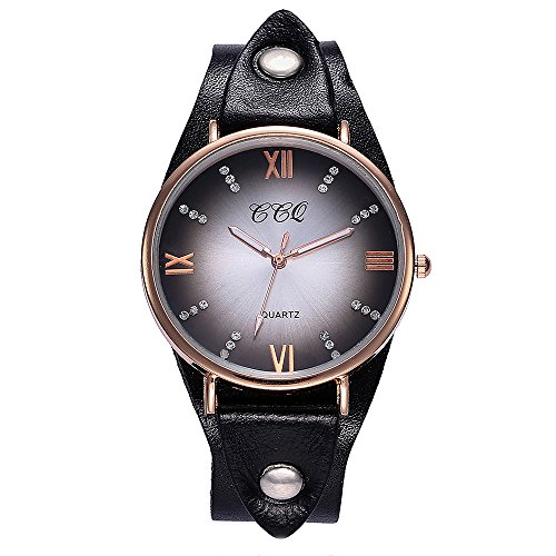 EARS CCQ beiläufige QuarzLeder Men Women Fashion Creative Watches Sports Watch Basic Band Marmorband-Uhr-analoge Armbanduhr Casual Band Marble Strap Watch Analog Wrist Watch (E)