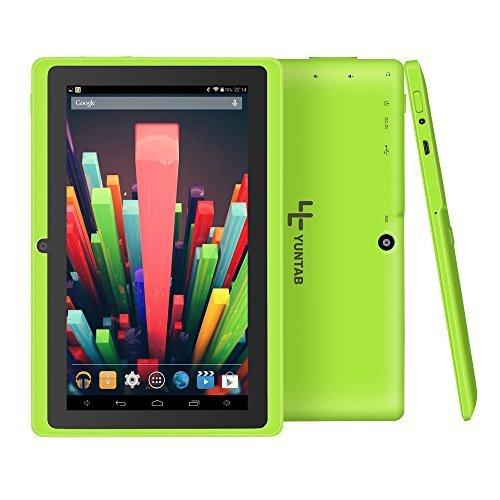 Yuntab Q88H - 7 Zoll Tablet PC,Android 4.4, Quad Core, HD 1024x600, Dual-Kamera, Bluetooth, WI-Fi, 8GB, 3D Spiel Unterstützte Grün (2500 Series Notebook)