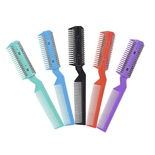 Anself Doppelseitige Haarschneider Kamm Haare schneiden Verdünnung Styling-Tool