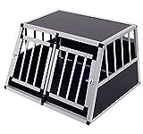 Homcom Cage de transport pour chien en aluminium xl noir 89 x69x50 cm...