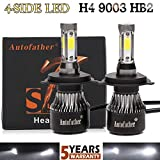 2016 Newest LED Headlight Bulbs All-in-One Conversion Kit - H4 LED High Low
