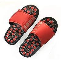 Fußmassage-Pantoffel, Akupressur-Fußmassagegerät-Zapfen-Sandelholz-Pantoletten (rot) preisvergleich bei billige-tabletten.eu