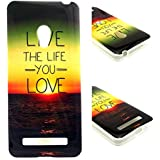Beiuns Carcasa de TPU y silicona para Asus Zenfone 5 Funda - N142 live the life you love