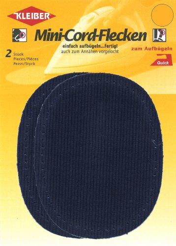 Kleiber - Toppe per gomiti e ginocchia termoadesive o da cucire, blu scuro, 2 per confezione