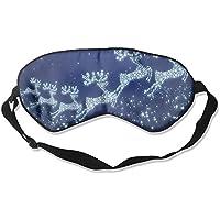 Comfortable Sleep Eyes Masks Blue Reindeer Pattern Sleeping Mask For Travelling, Night Noon Nap, Mediation Or... preisvergleich bei billige-tabletten.eu