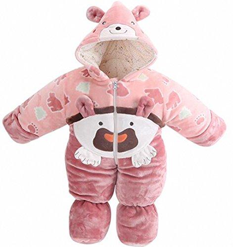 Happy Dream Gigoteuse enfant toute l'année,panda,Gigoteuses avec les pieds,Enfants grenouillères 100% coton,(3tailles) .Les garçons et les filles applicables.Taille: (M: 80cm, 0-1 ans) (L:. 90cm.1-2 ans).multicolore。 ((M: 80cm, 0-1 ans), rose)