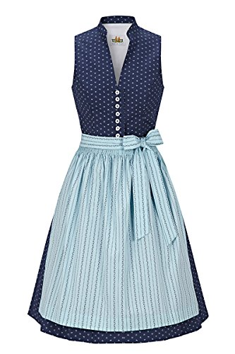 Wenger Damen Mini Dirndl 60er blau-hellblau Zitta 132245
