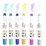 Pretty See Set di Gesso Colorato per Capelli, Perfetta Tintura Temporanea dei Capelli, con Gessi di 6 Colori Differenti, di gessetti atossici Adatto per Adolescenti