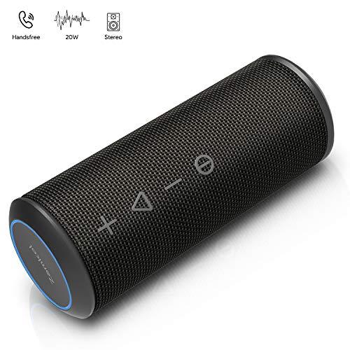 Zamkol Altoparlante Bluetooth 4.2 Cassa, 20W Wireless Speaker TWS & AUX & USB, IPX6 Subwoofer Shockproof Speakers, Audio Stereo 360 per Smartphone, Computer, TV, Viaggio