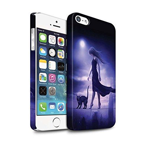 Officiel Elena Dudina Coque / Clipser Matte Etui pour Apple iPhone 5/5S / Sorcière Chaudron Design / Magie Noire Collection Somnambule/Insomnie