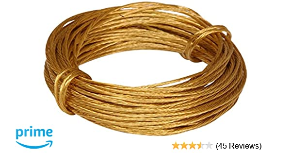 19.5ft Brass 6 Metre Bulk Hardware BH02242 Picture Wire 50lb Breakweight