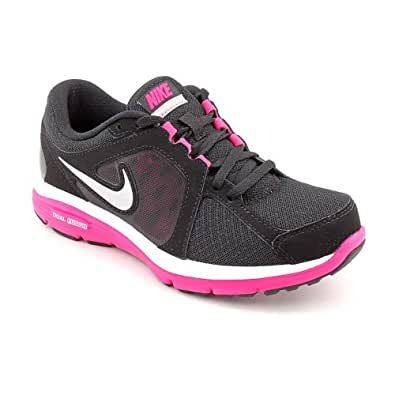NIKE Dual Fusion Run Womens Black Mesh Running Shoes Size ...