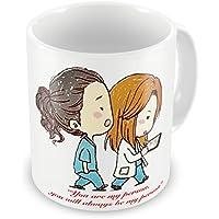 11oz White Mug - 'Greys Anatomy - You are my person' - Fun Novelty Magic Morphing Mug 11oz Ceramic Coffee Tea Mug By Acen Studios - Perfect Valentines/Easter/Summer/Christmas/Birthday/Anniversary Gift