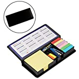 #3: PIGLOO Diary Style Sticky Notes Memo Pad Holder with 2017 & 2018 Calendar + Stapler + 2 Marker Pens + U-Clips