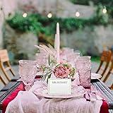 Partycards 50 Tischkarten/Platzkarten DIN A7 für Hochzeit, Geburtstag, Kommunion, Taufe (DIN A7, Rahmen Grün) - 6