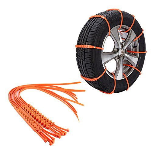 10PCS Not rutschsicheren Tire Ketten, KFZ Kabel Tire wiederverwendbar Sicherheit Anti-Rutsch Tyer Ketten Mud Ketten Snow Tire Ketten für Cars Truck SUV Reifen Notfall fahren - Roller-schnee-kette