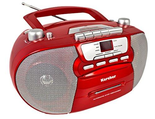 Mit Cd-player Am Radio Fm / (Karcher RR 5040 Oberon tragbares CD-Radio (AM/FM-Radio, CD, Kassette, AUX-In, Netz/Batteriebetrieb) rot)