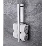 Ruicer Self-Adhesive Towel Rail without Drilling Guest Towel Holder Stainless Steel 40 cm