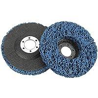 2 Unids Poly Strip Disco de Rueda Herramienta de Eliminación de óxido de Pintura Limpiador de Angulo de Calidad Discos Azul 115mm 60#