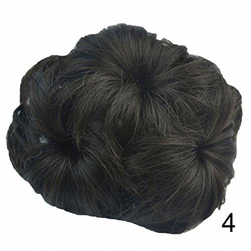 Haar Verlängerung Perücke (PrettyWit Braut Pferdeschwanz Erweiterung mit Klaue Pferdeschwanz Haar schmuck Hochsteckfrisur Haarteil Pferdeschwanz Haar verlängerungen Wellig Stück Perücke(Darkest Brown in der Nähe von Schwarz 4))