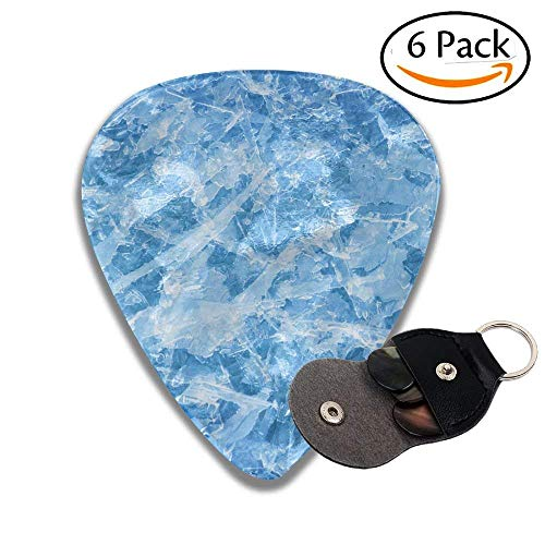 Ice Crystals Background Stylish Celluloid Guitar Picks Plectrums For Guitar Bass .6 Pack 96mm -