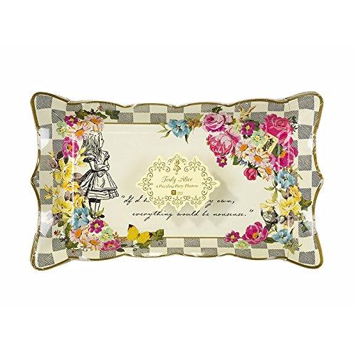 Alice in Wonderland; Servierplatte für Geburtstage, Teekränzchen, Hochzeiten und Partys, Verrückte Hutmacher-Party, Bunt (4 pro Pack) (Alice Und Der Verrückte Hutmacher)
