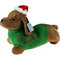 BWG Christmas Dachshund Through The Snow Dog 32cm Door Stop