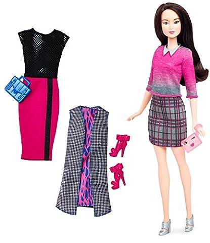 Mattel Barbie DTD99 Barbie Fashionistas Style Puppe und Moden mit