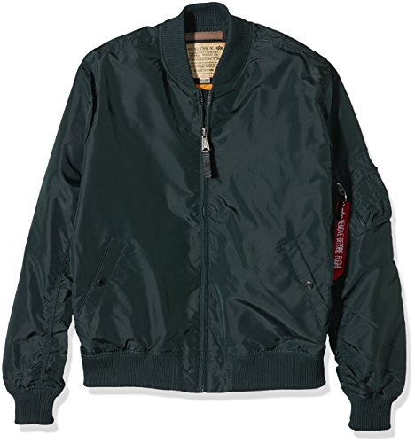 Alpha Industries Herren Jacke MA-1 TT, Grün (Dark Petrol 353), X-Large Alpha Flight Jacket