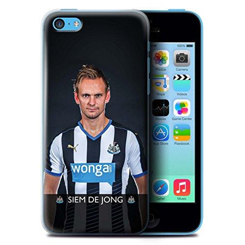 Offiziell Newcastle United FC Hülle / Case für Apple iPhone 5C / Haïdara Muster / NUFC Fussballspieler 15/16 Kollektion De Jong