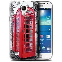 Stuff4 Hülle / Hülle für Samsung Galaxy S4 Mini / Red Phone Box Muster / London England Kollektion