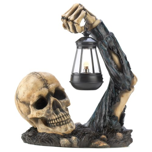 Gifts & Decor Sinister Skull mit Laterne Halloween Party Dekoration