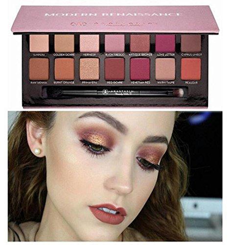 14 Farben Lidschatten Palette Nature Glow ❤️ZEZKT-Beauty Schönheits Kosmetik Wasserdicht Lidschatten Palette Eyeshadow