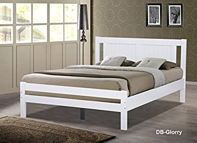 Glory White Wooden Slatted Bed available in 3FT Single, 4FT Small Double or 4FT6 Double