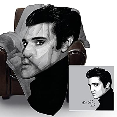 Elvis Face Design Soft Fleece Blanket Cover Throw Over Sofa Bed Blanket