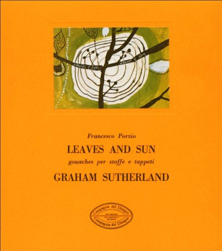 Graham Sutherland. Leaves and Sun. Gouaches per stoffe e tappeti