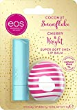 eos Winter Edition Duo Set Lip Balm Stick/Sphere: Coconut Snowflake & Cherry Bright, feuchtigkeitsspendende Lippenpflege, Ges